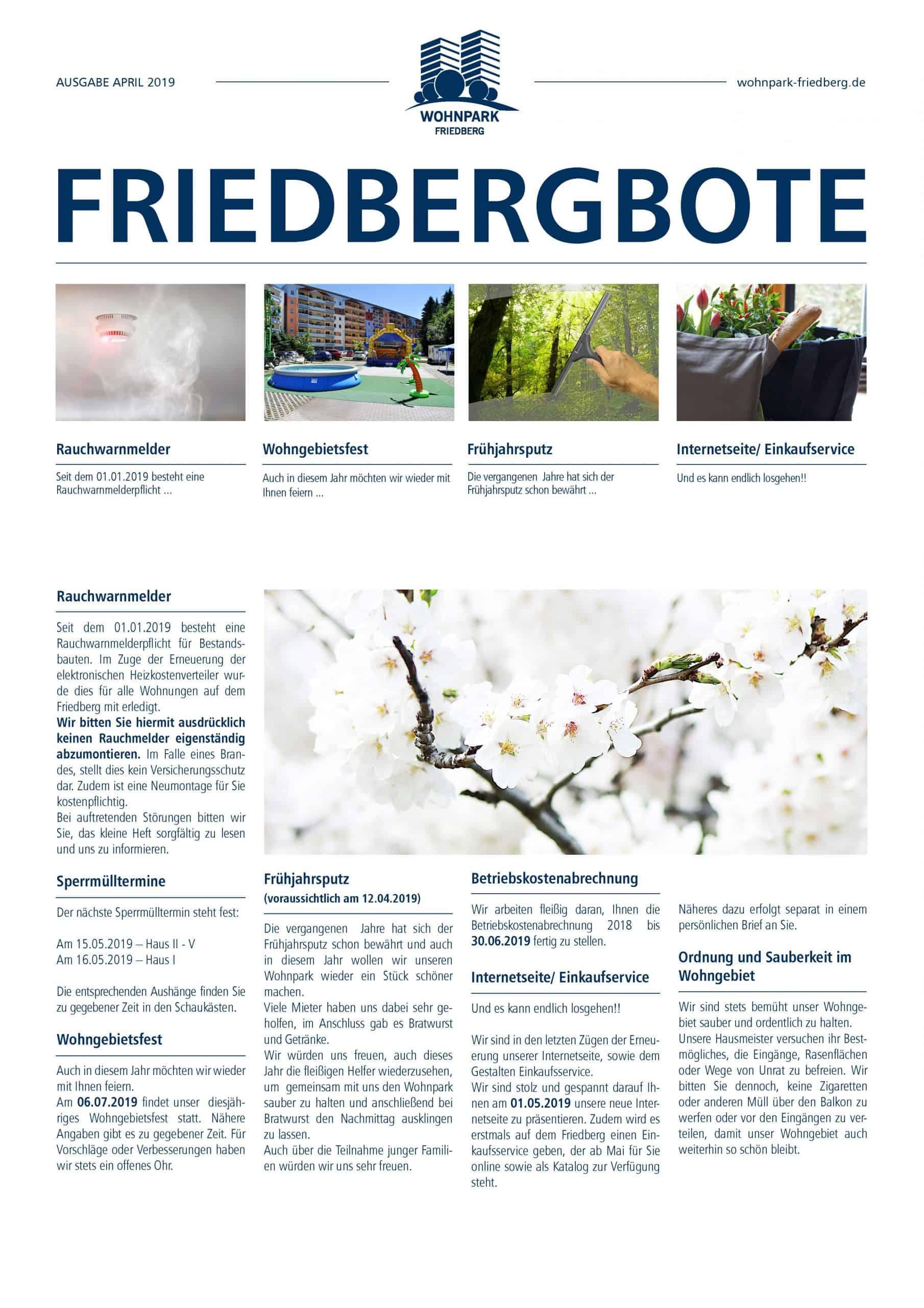 Friedbergbote – April 2019