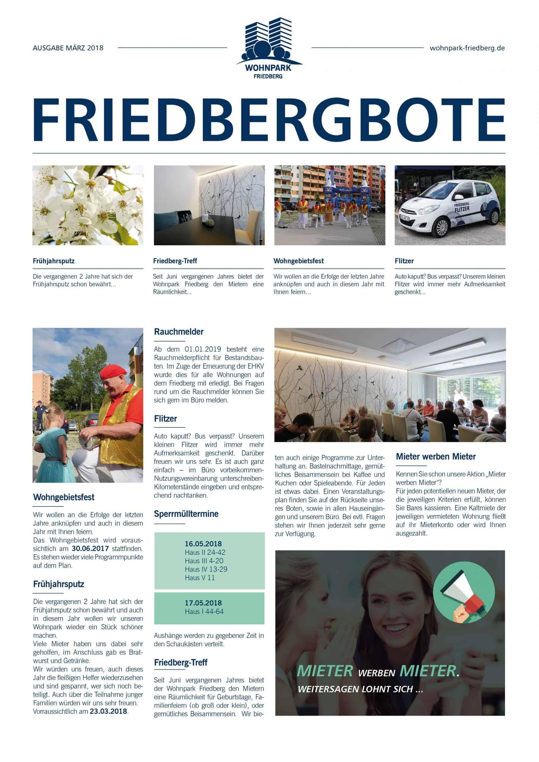 Friedbergbote – März 2018