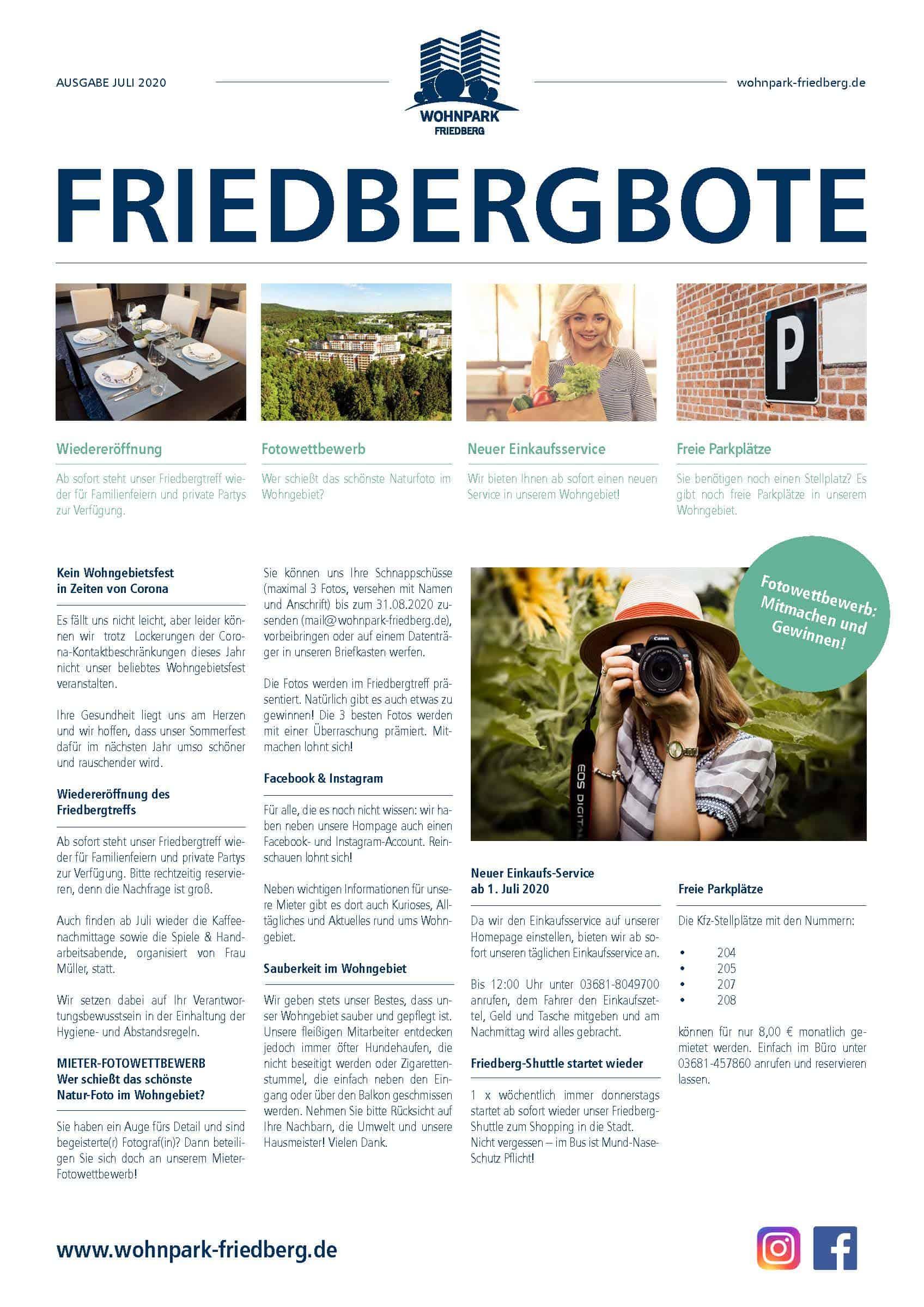 Friedbergbote – Juni 2020