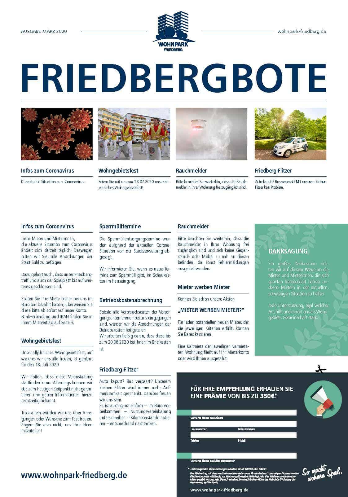 Friedbergbote – März 2020