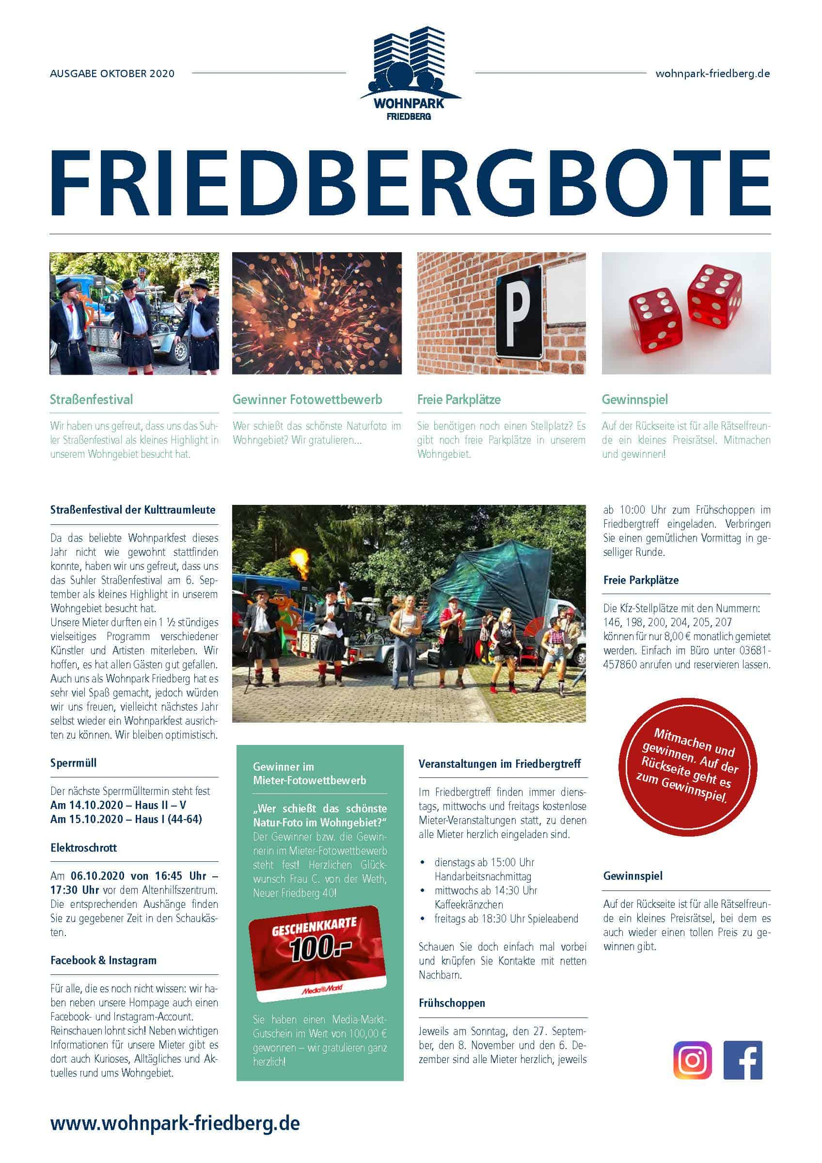Friedbergbote – Oktober 2020