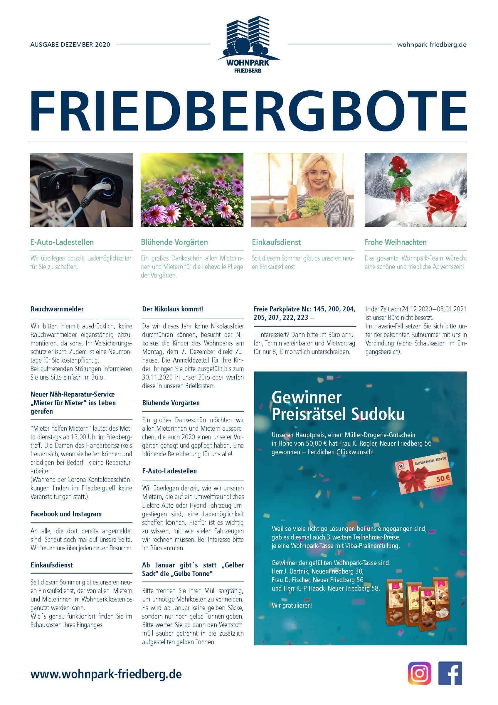 Friedbergbote – Dezember 2020